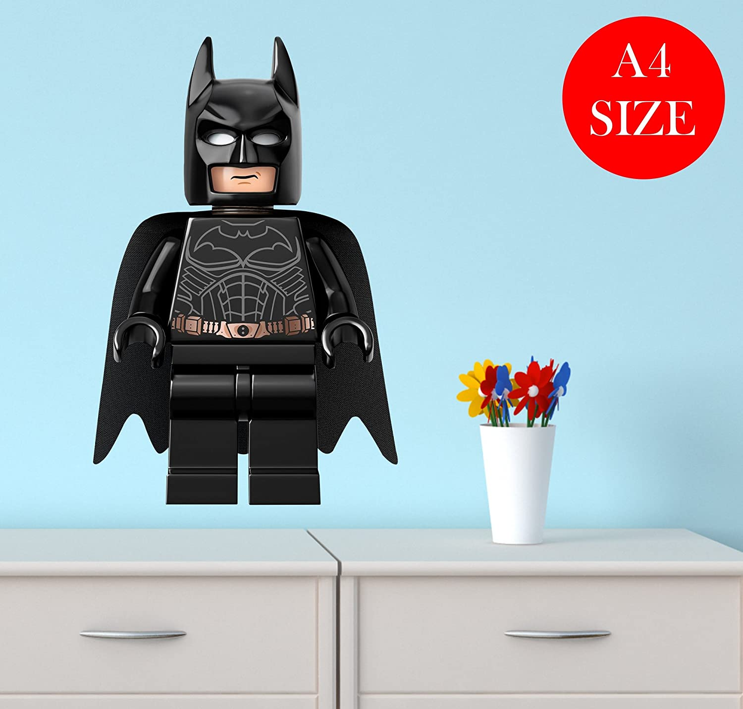 A4 LEGO BATMAN nursery bedroom WALL ART BOY GIRL sticker laptop CAR vinyl ROBIN Christa Prints