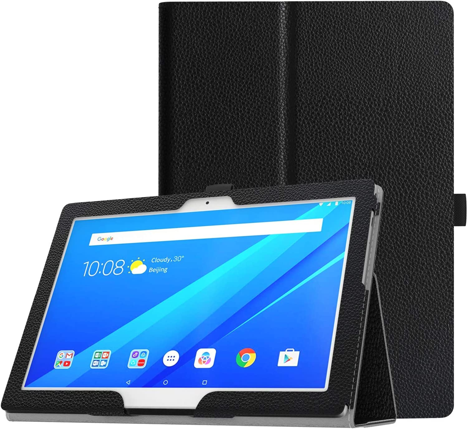 """TiMOVO Cover Compatible for Lenovo Tab 4 / Tab 4 Plus 10"""" Case - Ultra Compact Premium Slim Folding Stand Cover Case Fit Lenovo Tab 4 / Tab 4 Plus 10.1 Inch HD Tablet 2017 Release, Black"""