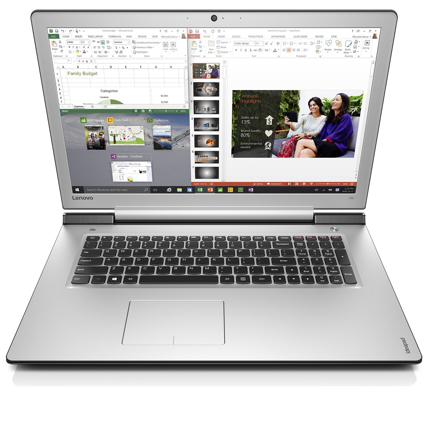 Lenovo Ideapad 700-17ISK 80RV001MGE 17 Zoll Multimedia Notebook