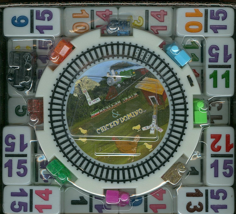 Double 12 Numeral Pro Size Mexican Train /& Chicken Domino Set