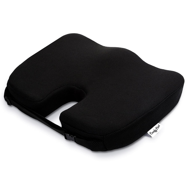 amazon com coccyx seat cushion with strap soft premium memory