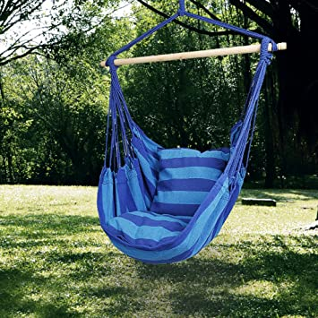 hamac balancelle de jardin kinlo fauteuil suspendu corde de suspension sige chaise enjoy pour - Fauteuil Suspendu Exterieur