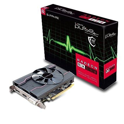 Sapphire Pulso AMD Radeon RX550 4 GB Memoria 128 bits, GDDR5, DisplayPort/HDMI/DL-DVI-D PCI Express Tarjeta gráfica – Negro
