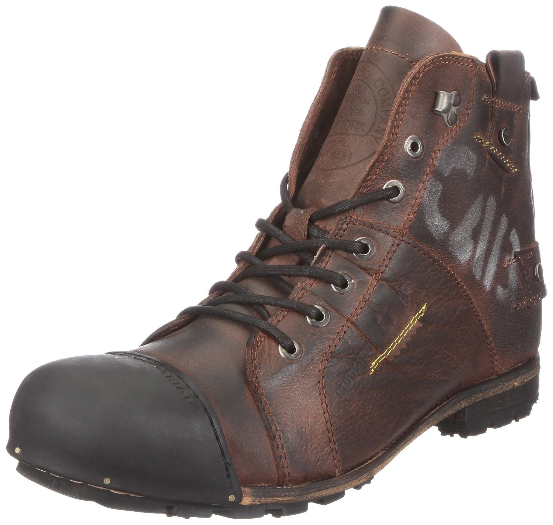 Yellow Cab Industrial Herren Biker Boots Braun (Dark Brown)