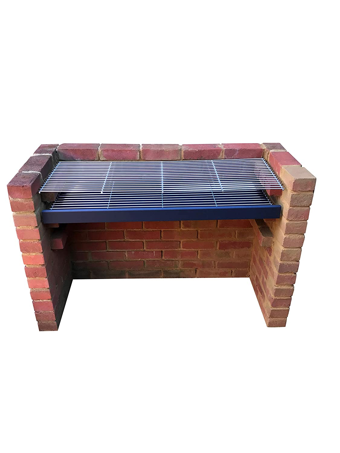 SunshineBBQs Extra Large Brick BBQ Kit with 6mm Stainless Steel Grill /& Measuring 112cm