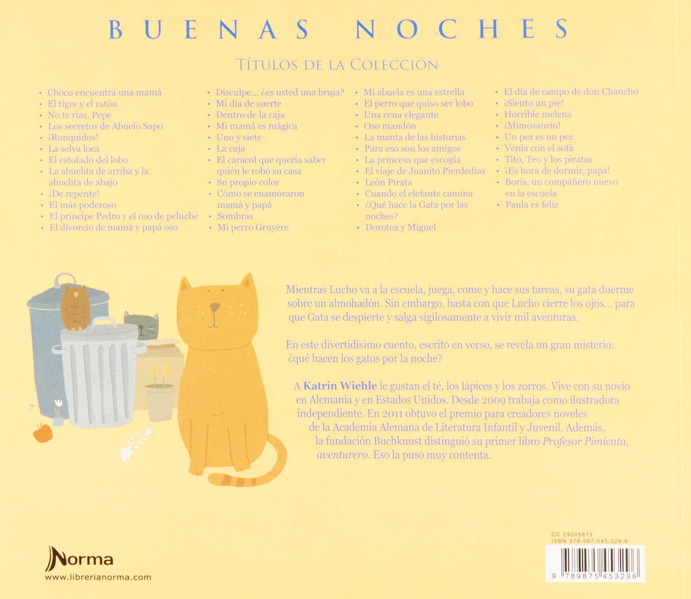 ¿Qué hace la gata por las noches?: KATHRIN WIEHLE: 9789875453296: Amazon.com: Books