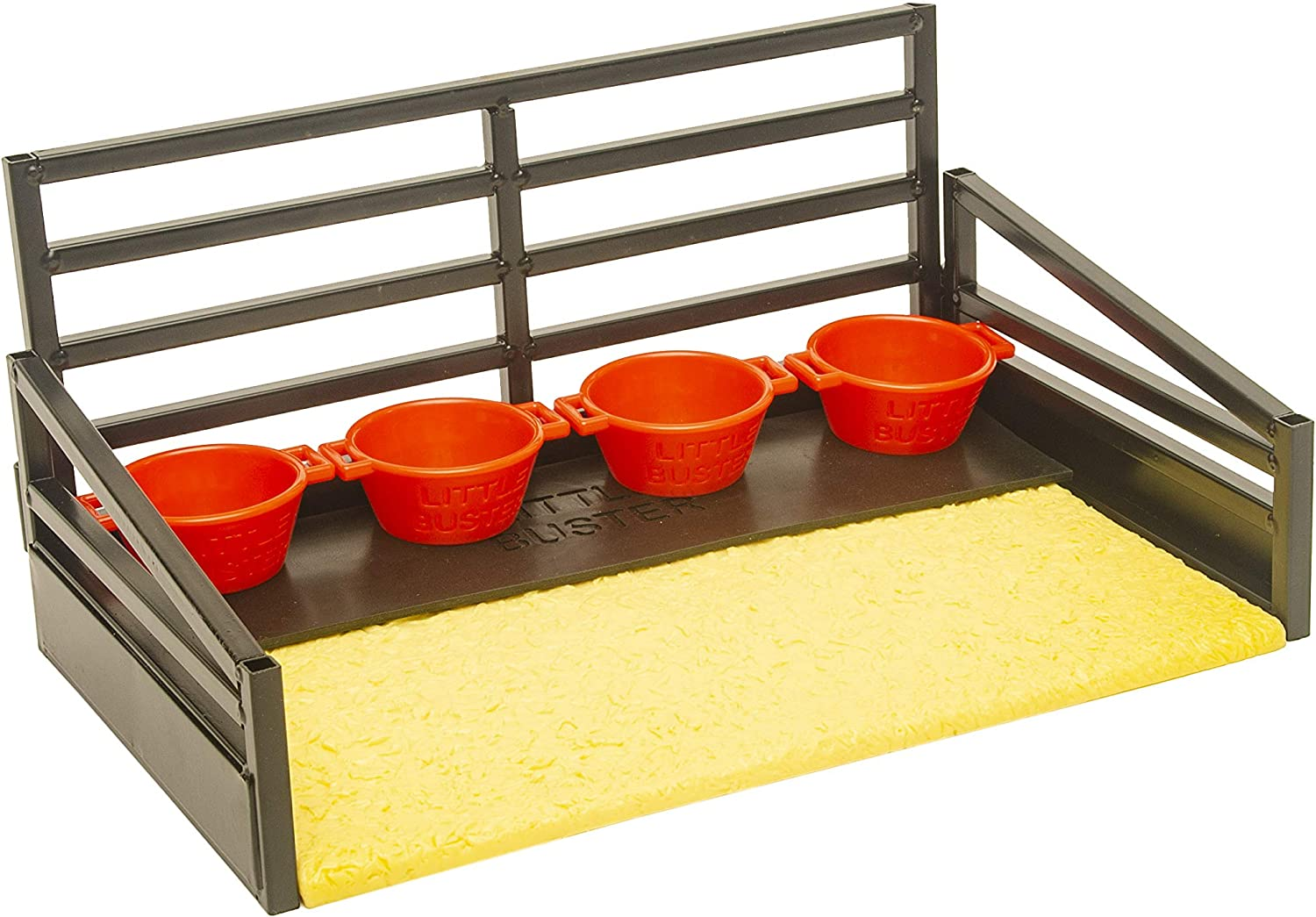 4 Red Feed Pans Matt Little Buster Toys Show Cattle Accessories Kit Shavings Bed