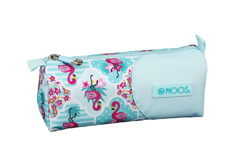 Moos Flamingo Turquoise Oficial Estuche Escolar 210x70x80mm ...