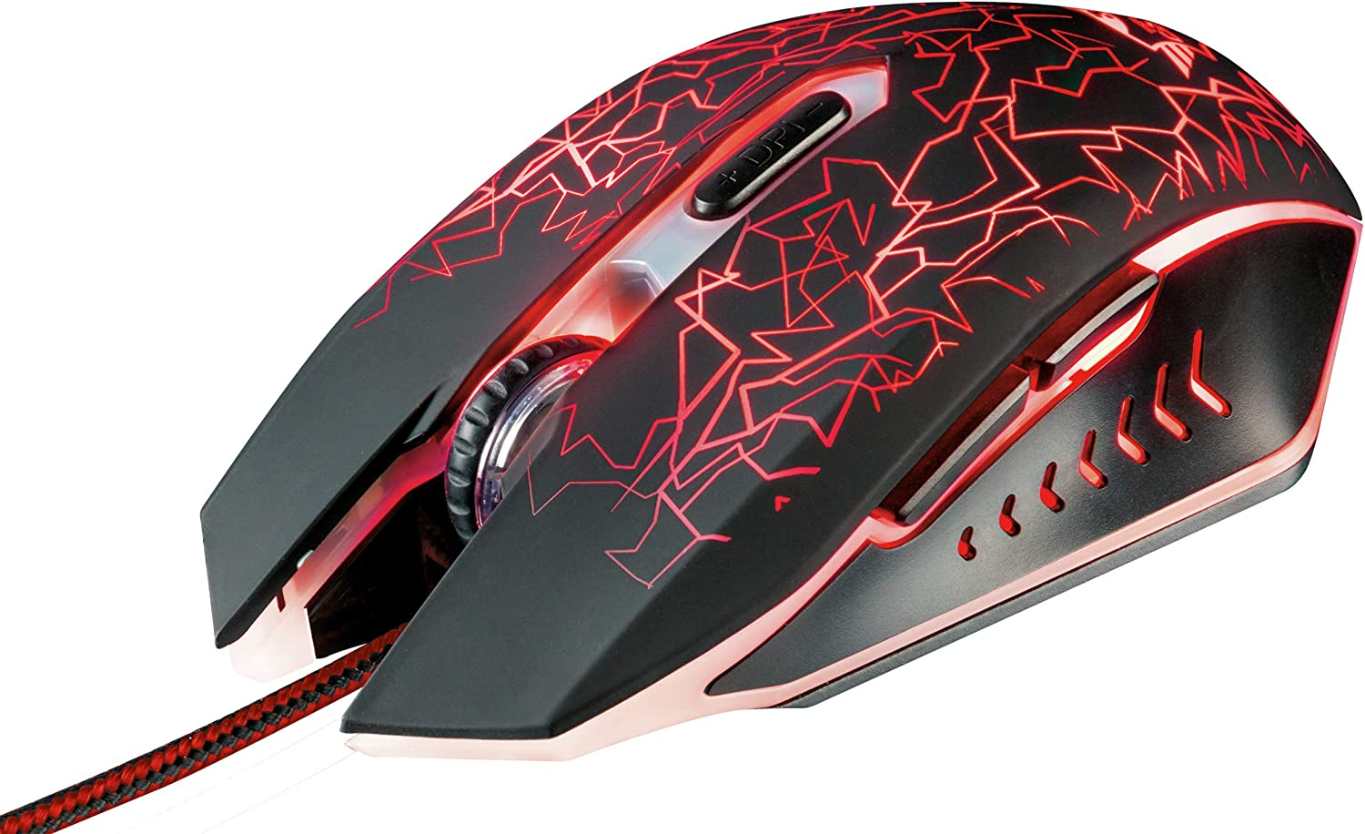 Trust GXT 105 Izza Illuminated Gaming Mouse 6 Responsive Buttons 800-2400 DPI