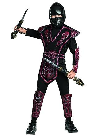 Disfraz de Ninja Rojo enmascarado para niño, infantil 5-7 ...