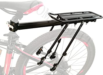 COMINGFIT® 75kg Capacityj, portaequipajes de bicicleta ajustable Cargo Rack-Super Strong Upgrade portaequipajes de bicicleta 4-Strong-Leg Bicycle Cargo Carrier: Amazon.es: Deportes y aire libre