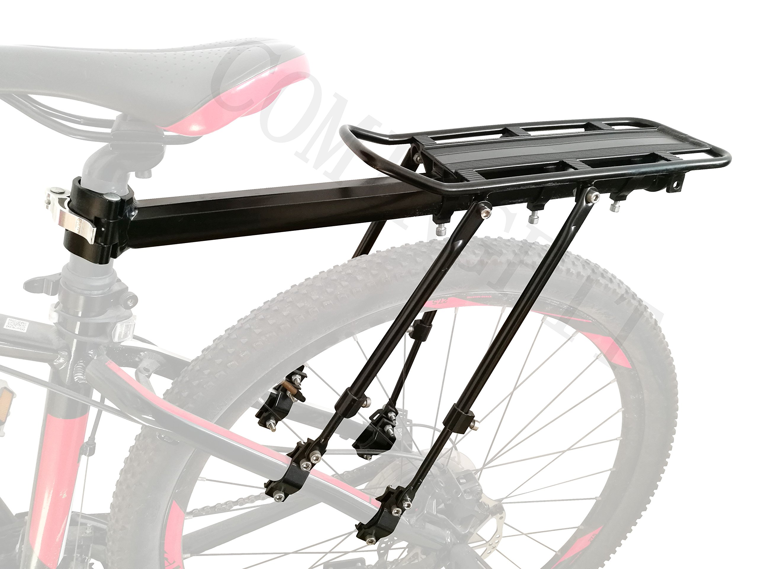 COMINGFIT 165lbs Capacity Adjustable Bike Luggage Cargo Rack-Super Strong Upgrade Bike luggage Carrier 4-Strong-Legs Bicycle Luggage Carrier