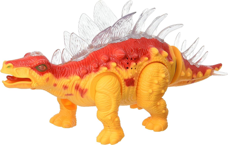 Realistic Dinosaur Sounds Walking Light Stegosaurus B//O Prehistoric Dinosaur