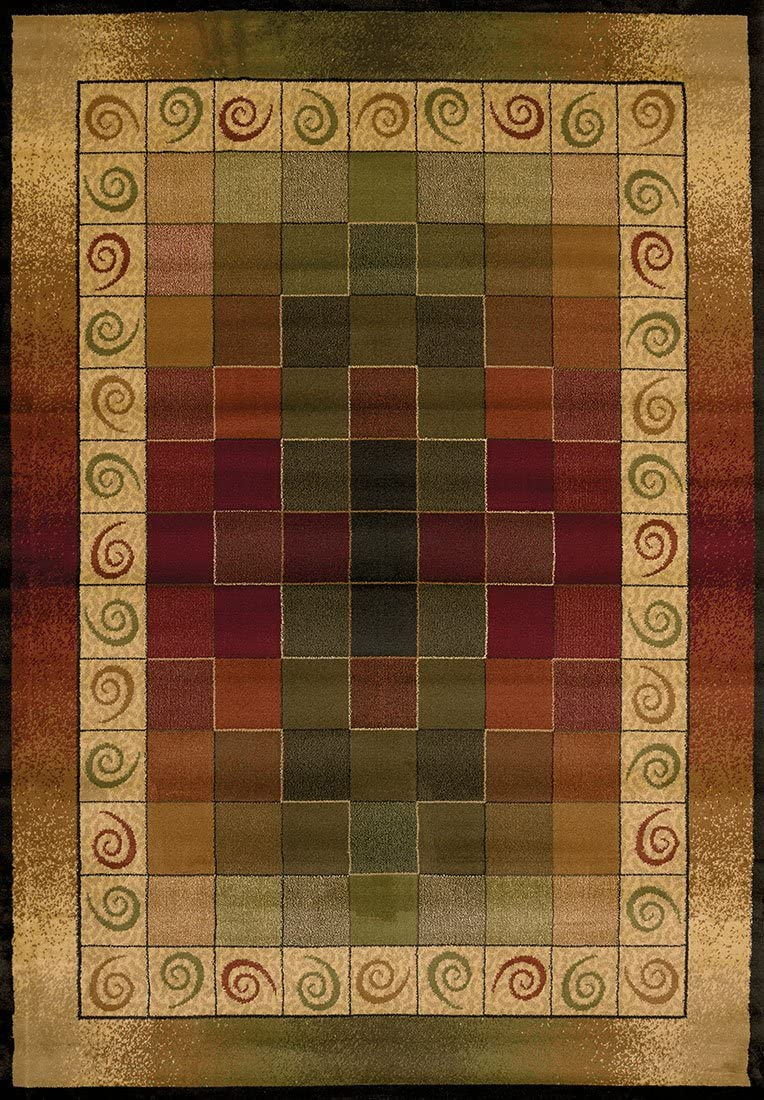Traditional Area Rug, United Weavers Genesis Collection 8 x11 Montage Lodge