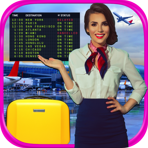 - Real Airport & Flight Attendant Simulator - Kids Cash Register, Flight & Airplane Games FREE