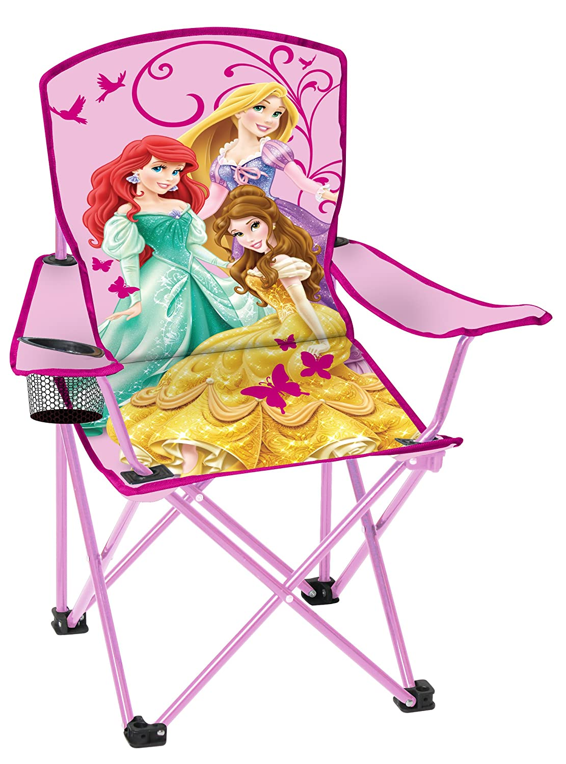 Superior Amazon.com: Disney Youth Princess Folding Chair With Armrest And Cup  Holder: Sports U0026 Outdoors