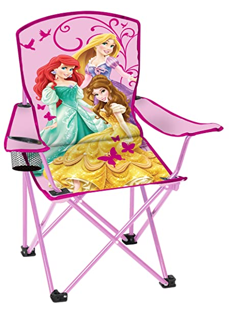 Captivating Disney Youth Princess Folding Chair With Armrest And Cup Holder