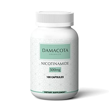 B3 - Nicotinamide - 500 mg - 100 Capsules - Flush Free - Gluten Free -