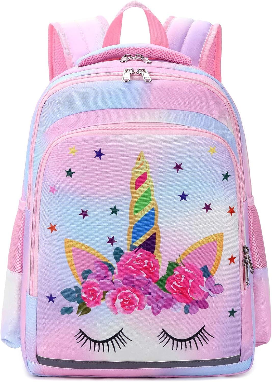 FAJRO Good Night Girl Cute Travel Backpack School Pack