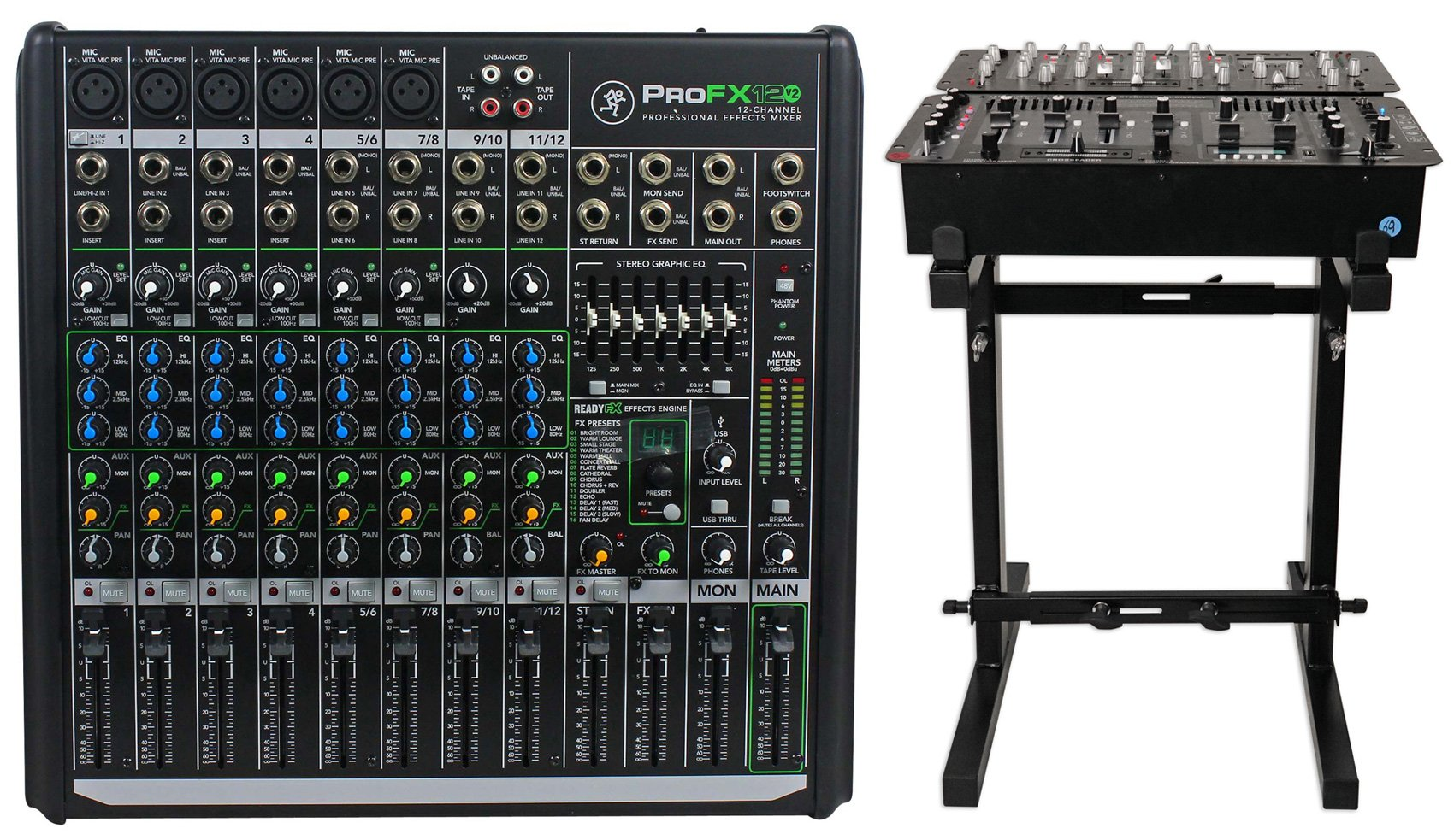 Mackie PROFX12v2 Pro 12 Channel Compact Mixer w Effects and USB PROFX12 V2+Stand
