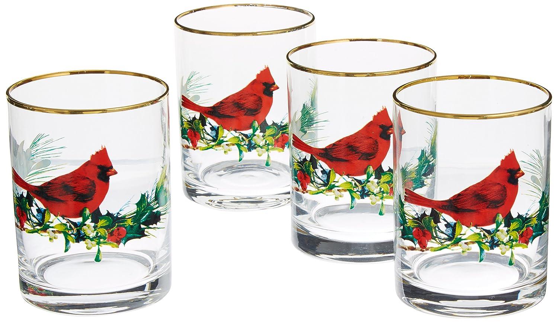 Amazon Lenox Winter Greetings Cardinal Dof Glasses Set Of 4