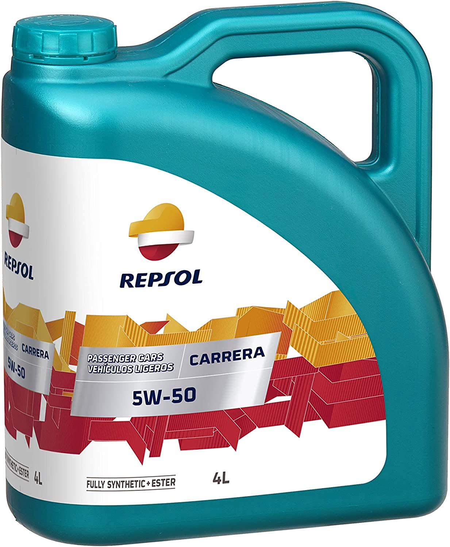 Repsol RP050H54 Carrera 5W-50 Aceite de Motor para Coche, 4 L
