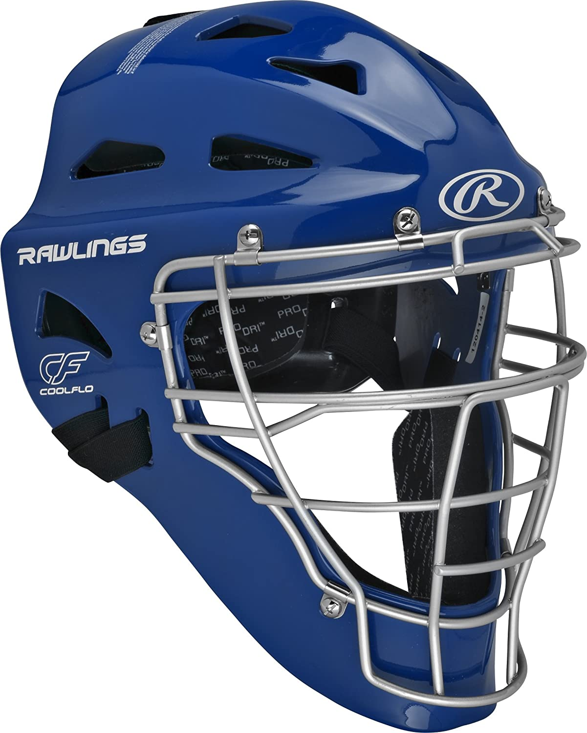 Rawlings Youth Renegade Coolflo Hockey Style Catcher's Helmet 6 1/2 - 7 Royal/Silver Rawlings Sporting Goods CHRNGDY