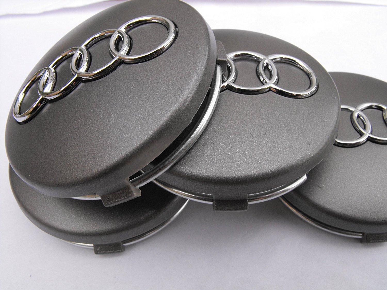Juego de tapacubos de aleación de Audi de 60 mm de gran calidad para modelos 1 2 3 4 5 6 7 TT RS Q S: Amazon.es: Coche y moto