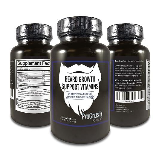 Beard Growth Support Vitamins- Grow a longer beard.