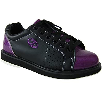 Amazon.com | Elite Athena Black Purple Bowling Shoes - Womens ...