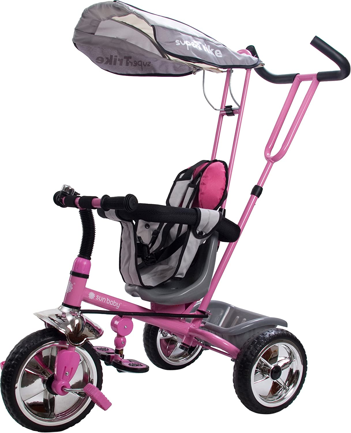 Rose Bonbon  Sun   Tricycle avec toit - version allehommede