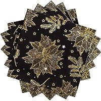 Servilletas de papel Whaline de Navidad, color negro