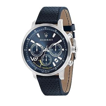 MASERATI Reloj Cronógrafo para Hombre de Cuarzo con Correa en Cuero R8871134002: Amazon.es: Relojes