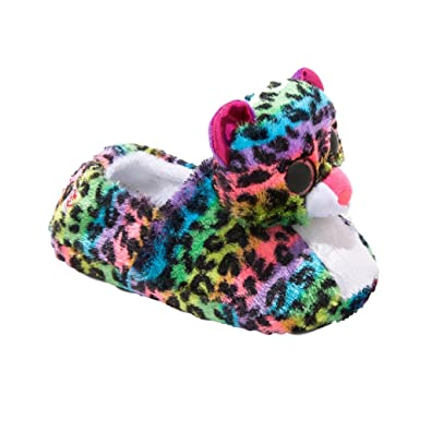 36282e61dd75 Beanie Boos Ty Slippers for Girls Dotty Leopard Rainbow Sizes Small Med  Large Size  Small