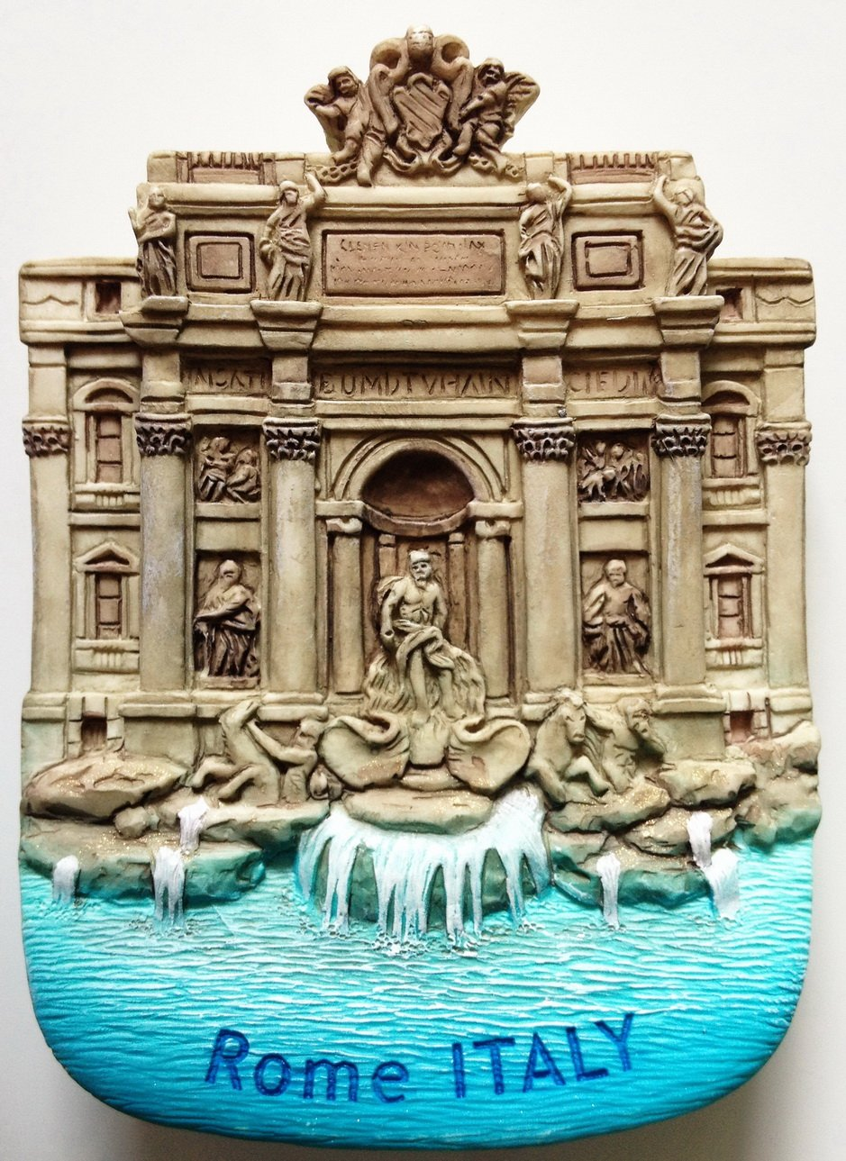 Trevi Fountain Rome Italy Resin 3D fridge Refrigerator Thai Magnet Hand Made Craft. by Thai MCnets by Thai MCnets