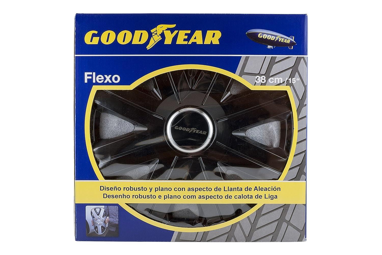 Good Year GOD9026 Flexo 10 Tapacubos de 15 Pulgadas Negro Set de 4: Amazon.es: Coche y moto