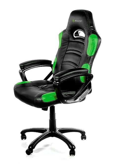 Sedia Gaming Arozzi.Arozzi Enzo Series Gaming Racing Style Swivel Chair Black Green