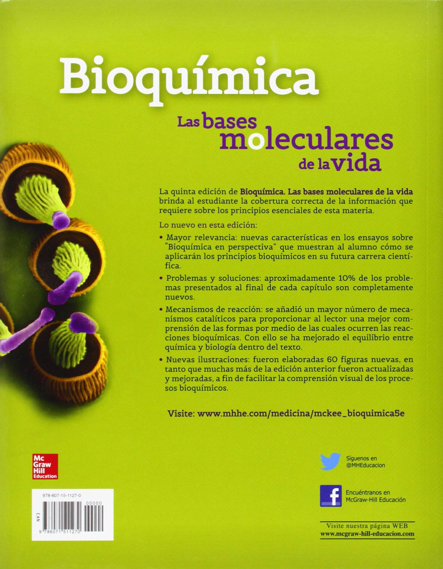 BIOQUIMICA LAS BASES MOLECULARES DE LA VIDA: Amazon.es ...