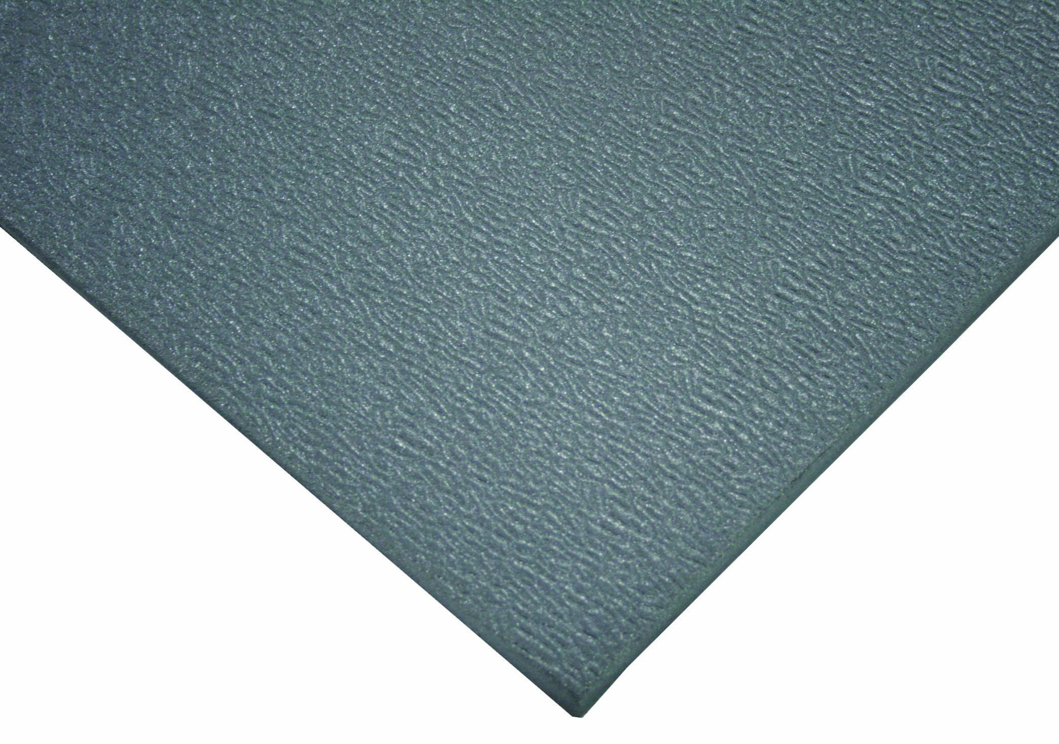 Wearwell PVC 427 SoftStep Light Duty Anti-Fatigue Mat, for Dry Areas, 3' Width x 5' Length x 3/8'' Thickness, Gray
