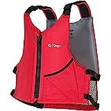 ONYX Unversal Paddle Kayak Life Vest, Red, Universal