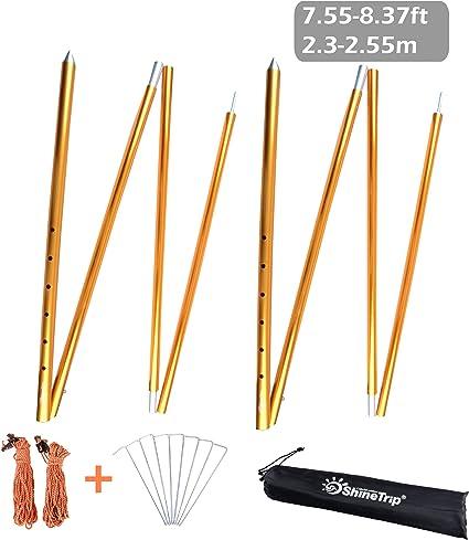 2/pcs//lot de 8,5/mm en alliage daluminium Tente Tente de tige de remplacement B/âtons de support Accessoires Outdoor Tente de camping Pole