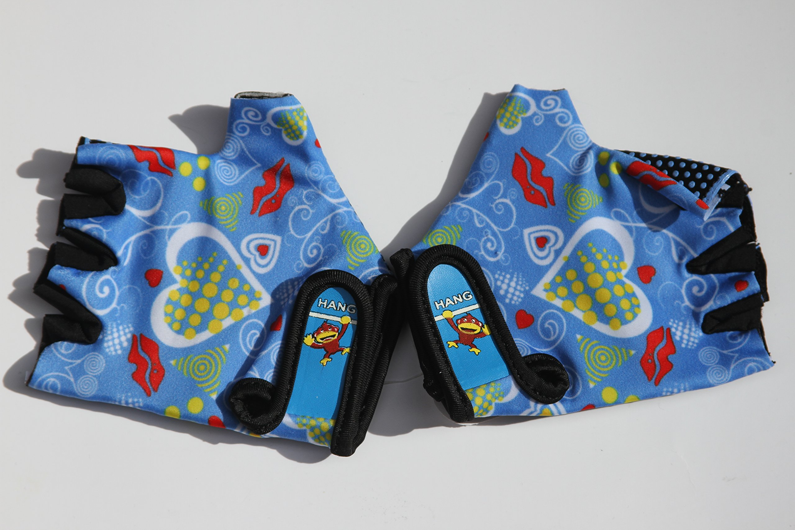 HANG Monkey Bars gloves With Grip Control (Blue) For Children 7 and 8 years old
