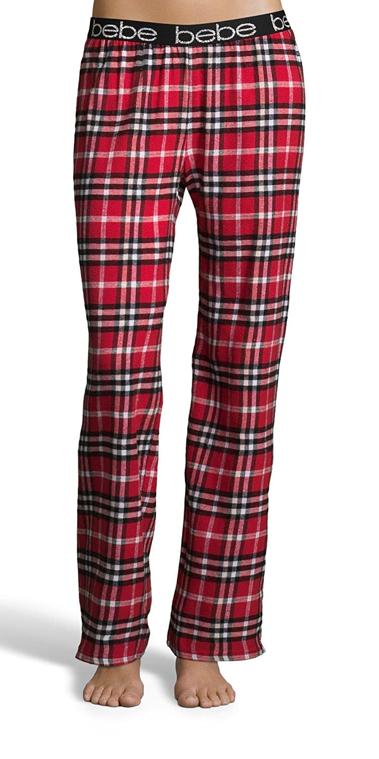 44af6a6be1 ... plaid print means these pants will always be in style. SIGNATURE LOGO   The signature bebe logo is printed around the length of the waistband.  ELASTIC ...