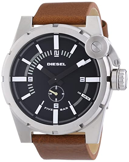 Diesel Reloj analogico para Hombre de Cuarzo con Correa en Piel DZ4270: Amazon.es: Relojes