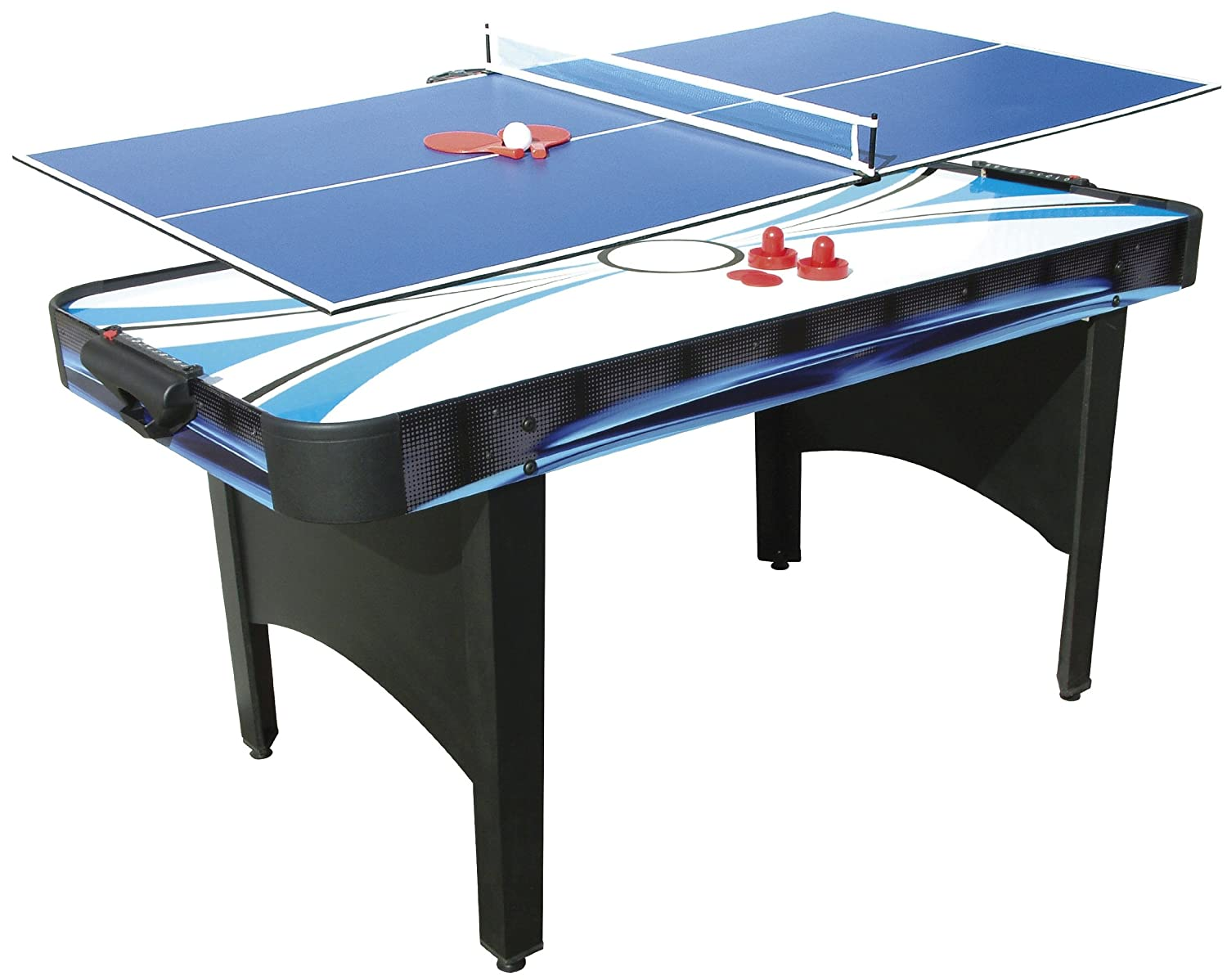 Mightymast Leisure 6ft TYPHOON 2 In 1 Electric Air Hockey U0026 Table Tennis  Game With All Accessories: Amazon.co.uk: Sports U0026 Outdoors