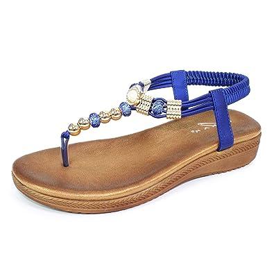 1d8608084 Lunar Womens Acorn Glitzy Toe Post Sandal  Amazon.co.uk  Shoes   Bags