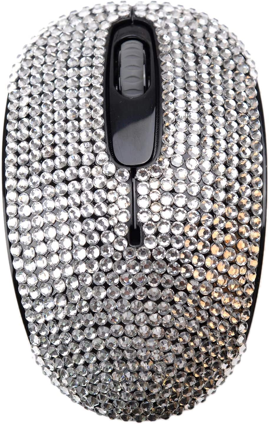 Bling Bling Wireless Mouse Covered with Rhinestone Crystal with USB Receiver Compatible for Microsoft Windows,iMac,MacBook