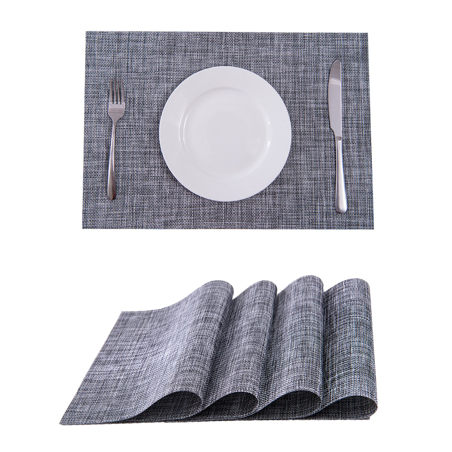 Set Of 4 Placemats,Placemats For Dining Table,Heat Resistant Placemats,  Stain