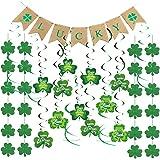 St Patricks Day Decorations,St Patricks Day Garland,St Patricks Day Hanging Decorations Lucky Irish Green Shamrock St Patrick