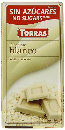 Torras No Added Sugar White Chocolate Bar (Pack of 6)